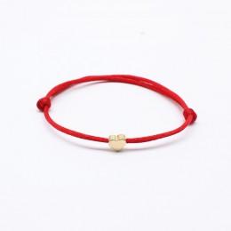 2019 nowa bransoletka z giwazdką Lucky Heart dla kobiet dzieci kolor czerwony sznurek linowy regulowana ręcznie robiona bransole