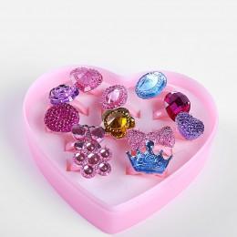 12 sztuk/partia love kids śliczny słodki wzór pierścienia nieregularny wzór biżuteria akcesoria dziewczyna dzieci prezent regulo