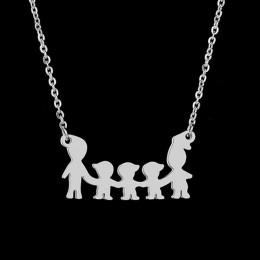 HOBBORN piękne kobiety wisiorki i naszyjniki stal nierdzewna 316L dziecko matka rodzina Serise wisiorek kobieta naszyjnik biżute