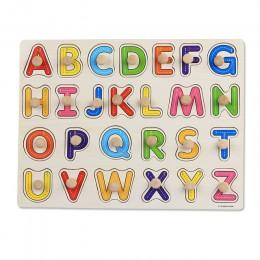 Zabawki dla dzieci Montessori drewniane Puzzle/ręcznie Grab zestaw edukacyjne drewniane zabawki pojazd animowany/Marine Puzzle z