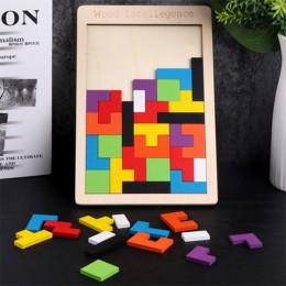 Puzzle Magic Tangram dzieci drewniana gra edukacyjna lol Hobby dziecko puzzle Tetris kostki puzzle dla dzieci zabawki dla dzieci