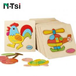 N-tsi dziecko drewniane Puzzle zabawki dla małych dzieci rozwijanie układanki edukacyjne dla dzieci zabawki dla dzieci gry Carto