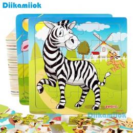 Nowa wyprzedaż 38 styl Cartoon drewniane Puzzle dzieci zwierząt/pojazd wyrzynarka zabawkowa 2-6 lat dziecko wczesne zabawki eduk