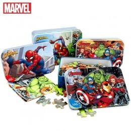 Marvel Avengers Spiderman Car Disney Puzzle zabawki dla dzieci drewniane Puzzle zabawki edukacyjne dla dzieci dla dzieci prezent