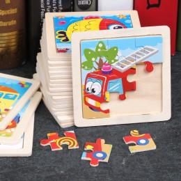 Puzzle drewniane dzieci dorośli pojazdy puzzle zabawki drewniane nauka edukacja środowisko montaż zabawki gry edukacyjne