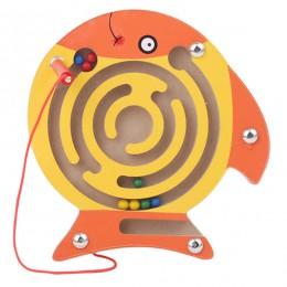 Dzieci labirynt magnetyczny zabawka dla dzieci drewniane Puzzle gra zabawka dla dzieci wczesna edukacja łamigłówka drewniana zab
