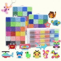 6000 sztuk DIY magiczne koraliki zwierząt formy samodzielne wytwarzanie 3D Puzzle dzieci edukacyjne koraliki zabawki dla dzieci