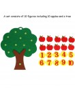 Zabawki dla dzieci jabłoń dopasuj cyfrowe nauczanie włóknina Puzzle zabawka matematyczna kreatywna zabawka edukacyjna dla dzieci