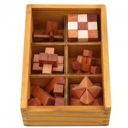 Drewniana blokada Kong Ming gra zabawka dla dzieci dorośli dzieci Drop Shipping łamigłówka IQ blokujące puzzle Burr