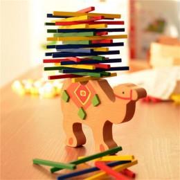 Zabawki dla dzieci edukacyjne słoń/wielbłąd klocki balansujące drewniane zabawki bilans drewna gra Montessori bloki prezent dla