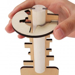 Odblokuj Puzzle klucz zabawka kreatywny drewniany Kong Ming blokada zabawki Kid Stress Release zabawka intelektualna edukacyjna