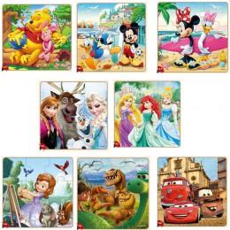 Disney Frozen Mickey Minnie nadruk z myszką Puzzle nauka edukacja ciekawe drewniane zabawki dla dzieci Brinquedos dla dzieci pre