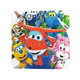 Puzzle znane kreskówki super wings edukacyjne zabawki dla dzieci dla dziecka 16 sztuk Puzzle gry darmowa wysyłka zabawki dla dzi