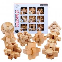 9 sztuk/zestaw buk 3D handmade vintage Ming blokada Luban blokada drewniane zabawki dla dorosłych puzzle dla dzieci zabawki eduk