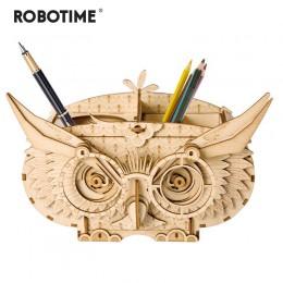 Robotime 7 rodzajów DIY 3D drewniane zwierząt i budynku Puzzle gry montaż zabawki prezent dla dzieci dzieci dorosłych zestawy mo