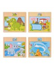 Dla dzieci puzzle jigsaw drewniana płyta wyrzynarka zabawkowa dzieci w wieku 1-5 lat stare kreskówki zwierząt i ruchu poznawcze