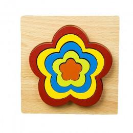 DIY kreatywny 3D drewniane Puzzle geometryczny kształt Puzzle inteligencja rozwijaj zabawki edukacyjne Montessori dla dzieci dla