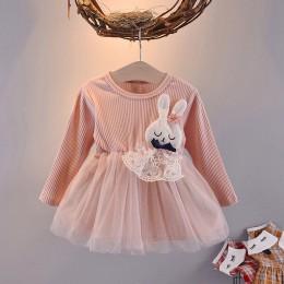 Sukienka dziecięca dziewczęca z długim i krótkim rękawem spódniczka tiulowa krótka tutu modna oryginalna
