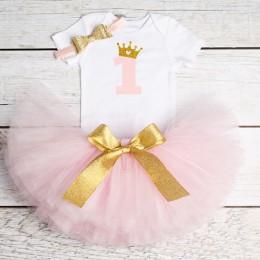 1 rok dziewczynka sukienka księżniczka dziewczyny Tutu sukienka maluch dzieci ubrania chrzest dziecka 1 pierwsze stroje urodzino