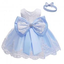 Sukienka dla dzieci cekinowa koronka kwiat suknia do chrztu chrzest ubrania nowonarodzone dzieci dziewczyny urodziny księżniczka