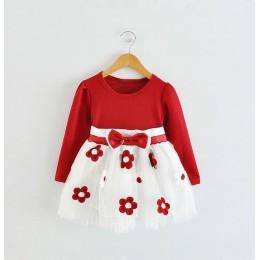 Z długim rękawem 1 rok dziewczyna dziecko sukienka urodzinowa 0 2T noworodka maluch sukienki do chrztu zima dziewczyna odzież co