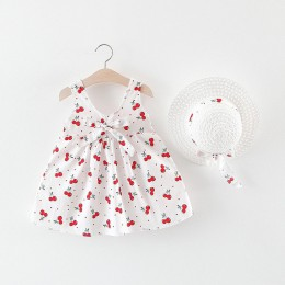 M. Dian Xi dziewczynek sukienki2019 kapelusz na lato 2 częściowy zestaw ubrania dla dzieci dziecko bez rękawów urodziny księżnic