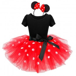 24M Christmas Gift Girls Dress święty mikołaj Minnie kostium imprezowy dziewczynka zima Snowman czerwony nowy rok, dziewczyna od