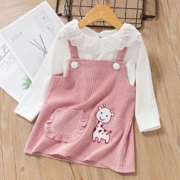 Keelorn Baby Girl Dress księżniczka 2019 nowa wiosna jesień ubrania dla dzieci z długim rękawem fałszywe 2 sztuka sukienka na im