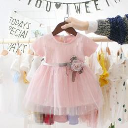 Nowonarodzona dziewczynka sukienka dla dziewczynki 1 rok sukienka urodzinowa 2019 nowych moda śliczna księżniczka sukienka dla d