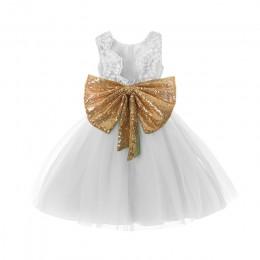 Księżniczka dziewczyna nosić bez ramiączek z kokardą sukienka na 1 rok urodziny kostium dla malucha lato na imprezy okazje vesti