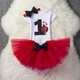 Nowonarodzone dziecko dzieci dziewczyny ubrania 3 szt. Zestawy pierwsze pierwsze stroje urodzinowe Tutu dziewczyna sukienka garn