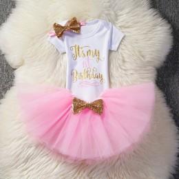 Sukienki dziecięce dla dziewczynek 2019 Tutu Girls 1st pierwsze urodziny Party sukienka niemowlęca dziewczynka 1 rok chrzest ubr