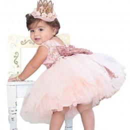 2020 nowa koronkowa sukienka dla dziewczynki 9 M-24 M 1 rok dziewczynek suknie urodzinowe Vestido birthday party princess Dress