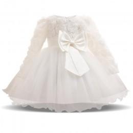 Baby Girl Dress Winter Tutu sukienki dla noworodka ślub chrzciny ubrania imprezowe maluch dziewczyna 1 rok urodziny sukienki chr