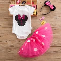 My Baby Minnie sukienka dla dziewczynki suknia do chrztu 1. Strój na przyjęcie urodzinowe maluch fantazyjny kostium dziecięcy su