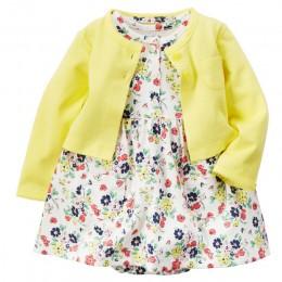 Baby Girl body Dress śliczny miękki bawełniany sweter z długimi rękawami + sukienka z krótkim rękawem 2 szt. Niemowlę małe dziew