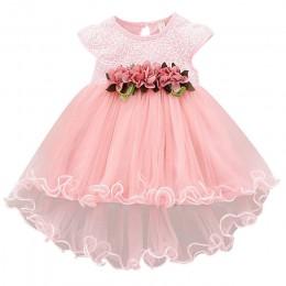 Płatek maluch dziewczynka niemowlę koronka księżniczki Tutu sukienka dziewczynka suknia ślubna Kids Party Vestidos dla dziecka 1