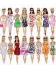 32 przedmiot/zestaw akcesoria dla lalek  10 Mix moda słodka sukienka + 4 okulary + 6 naszyjniki + 2 torebka + 10 buty sukienka