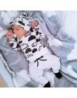 Baby Boy Clothes 2019 jesienne ubranie dla dziewczynki zestawy noworodka bawełna drukowana z długim rękawem t-shirt + spodnie +