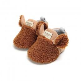 Śliczne maluch nowonarodzone dziecko indeksowania buty chłopiec dziewczyna Lamb kapcie Prewalker trenerzy buty dla dzieci 0-18M