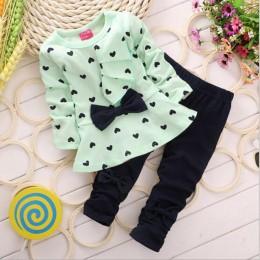 Komplet dziecięcy zestaw ubranek dla chłopca bawełniane zestawy z długim rękawem dla noworodków chłopcy stroje ubranie dla dziew