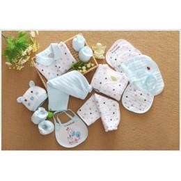 18 sztuka noworodka dziewczynka ubrania zimowe 100% bawełna niemowlę garnitur zestaw ubranek dla chłopca stroje spodnie odzież d