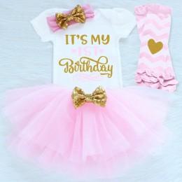 Niemowlę pierwsze stroje urodzinowe dziewczynka ubrania zestawy noworodka maluch dziewczyna chrzciny ubrania imprezowe dziewczyn