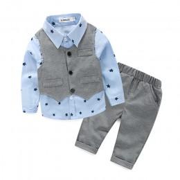 Voguish Boutiqu w nowym stylu nowonarodzone dziecko panowie chłopiec 3 sztuk/zestaw zestaw odzieży koszula + kamizelka + spodnie
