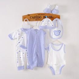 8 sztuka/0-3 miesięcy/wiosna jesień noworodka dres 100% bawełna ubrania dla dzieci garnitur Unisex niemowlę chłopcy dziewczęta o