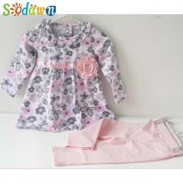 Sodawn dziewczynek ubrania kwiatowy dla dzieci strój dla dziewczynek maluch bawełniana kurtka dla dzieci ubrania dla dziewczynki