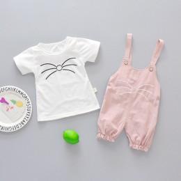 Niemowlę dziewczynka dziecko lato odzież top w paski szorty z szelkami zestaw dla noworodka dziewczynek ubrania 1 stroje urodzin