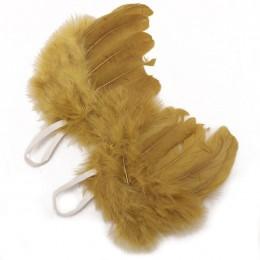 Dzieci śliczne skrzydła anioła noworodka Fotografia rekwizyty miękkie dziewczynek chłopców piórko ubrania zestaw spódnic czapka