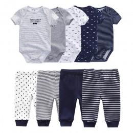 2019 jednokolorowy kostium + spodnie Baby Boy odzież odzież ustawia 0-12M dziewczynka ubrania Unisex noworodka dziewczyny dzieck