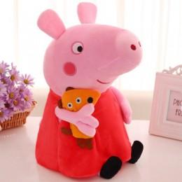 Śliczne 20/30/40/50cm świnka Peppa George rodzina pluszowe zabawki wypchana lalka dekoracje świąteczne świnka Peppa Ornament bre